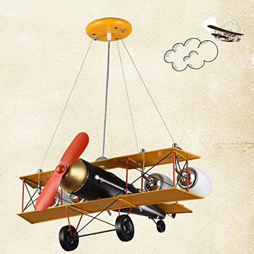 Guo Kinderzimmer-Lichter-Jungen-Schlafzimmer-Flugzeug-Lichter-Kronleuchter-Pers5onlichkeit-kreative Legierungs-Lampen-E27 Lampen-Hafen - 5