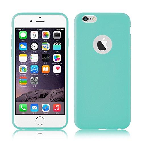 AcAccessoires- Iphone 6/6S Schutzhülle farbig Cover Bumper Silikon Gel Hülle Case (Koralle) Aqua
