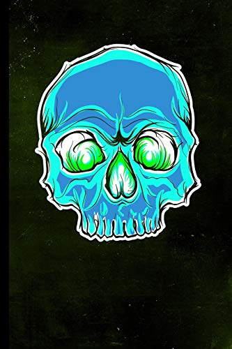 Glow Skull: Halloween Glowing Skeleton   128 College Ruled Pages: 6 x 9 in Blank Lined Journal with Soft Matte Cover   Notebook, Diary, Composition ... school, students, homeschool and teachers