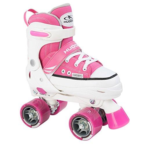 HUDORA Mädchen Rollschuhe, pink - Roller-Skates verstellbar