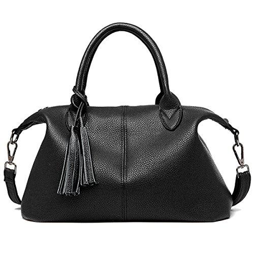 Europäische Und Amerikanische Mode-Lederhandtasche Umhängetasche Frau Messenger Bag black