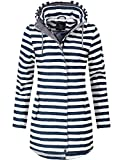 Peak Time Damen Übergangs-Mantel Softshell L60013 White/Navy Stripes Gr. L