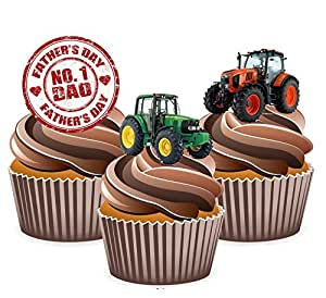 Tractor Cake Decorations Uk : Father s Day Tractor Cake Decorations - Edible Stand-up ...