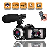 Videocamara de vídeo WiFi videocámara Full HD 1080p 30FPS 24.0 MP...
