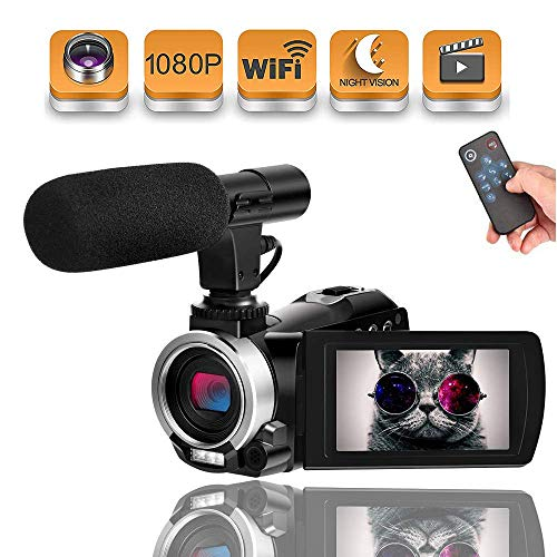 Videocamara de vídeo WiFi videocámara Full HD 1080p 30FPS 24.0 MP 16X Zoom...