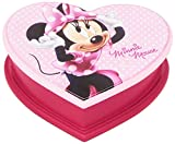Disney Minnie Mouse Pink Heart Shaped Jewellery Box With Mirror Kids Official Disney Gift by Disney
