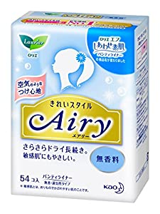 Japanese Women Sanitary Napkin Laurier beautiful style Airy fragrance-free 54 co input
