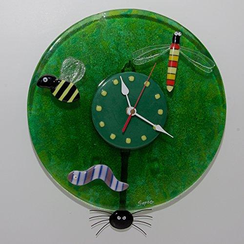 orologio-da-parete-insetti-con-un-ape-una-libellula-ed-un-vermetto-e-ragno-pendolo-insects-wall-cloc