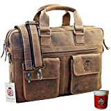BARON of MALTZAHN Laptoptasche Businesstasche PLUTARCH aus ECO-Leder - incl.