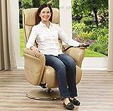 aktivshop Aufstehsessel Fernsehsessel Massagesessel mit elektrischer Aufstehhilfe, Wärmefunktion & Massage, Drehbar || Sanftes Aufstehen & Hinsetzen (Cappuccino) - 3