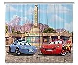 AG Design Disney Cars Kinderzimmer Gardine/Vorhang, 2 Teile Stoff Multicolor 280 x 245 cm