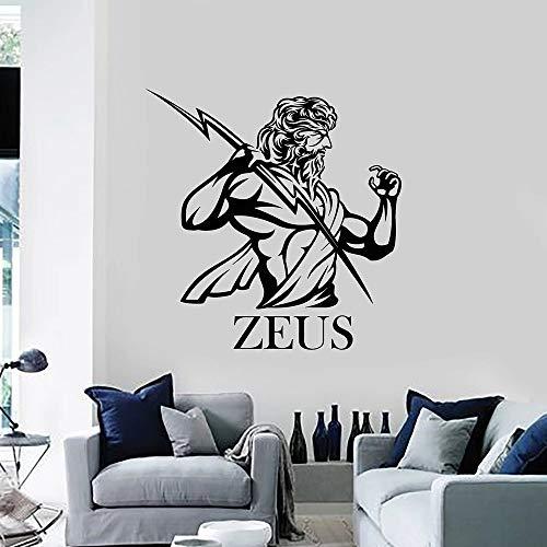 Tianpengyuanshuai Wandtattoos Antike griechische Mythologie Schlafzimmer Wohnzimmer Dekoration Vinyl Fenster Aufkleber Tapete 85x87cm