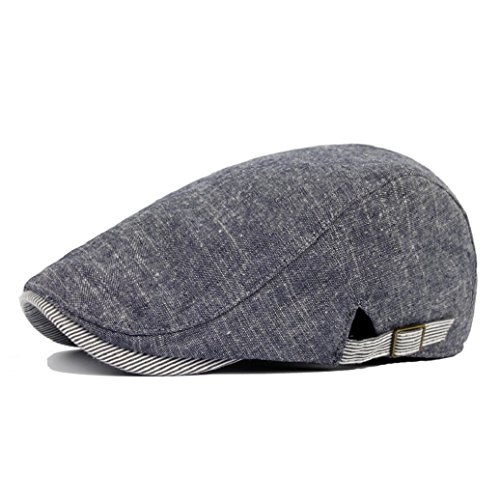 Gemini_mall® Mens Flat Cap Vintage Cabbie Hat Gatsby Ivy Irish Newsboy Caps