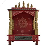 Home Temple/ Wooden Temple/ Pooja Mandir / Mandir / Large temple JORD704R WITH WHITE LIGHT