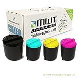4x MWT Toner für Samsung CLP 300 NG N ersetzt CLP-300A alle Farben Kartuschen Cartridges