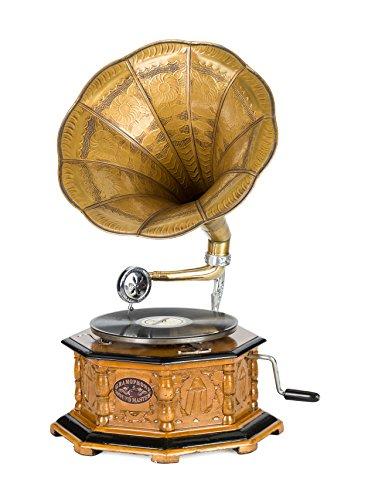 Gramófono estilo antiguo con bocina - Para discos de 78 RPM