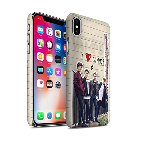 Offiziell The Vamps Hülle / Matte Snap-On Case für Apple iPhone X/10 / James Muster / The Vamps Geheimes Tagebuch Kollektion Connor