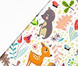 0,5m Softshell Little Forest Animals - weiß Eigendruck