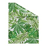 Lichtblick Fensterfolie Selbstklebend, Sichtschutz, Motiv Blätter, Grün in 100 x 100 cm (B x L)