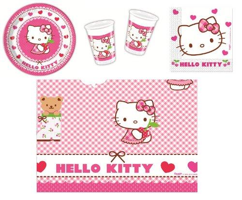 Procos 412274 Kinderpartyset Hello Kitty Hearts, Größe S