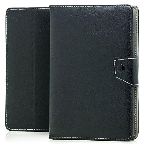 Saxonia Coque pour Tablette 8 Pouces (Large) | Universal Etui Housse de Protection Support Fonction | Noir