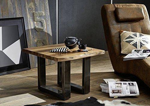 Table basse carrée 60x60cm - Bois massif de palissandre laqué (Noble Unique) - SYDNEY #0312