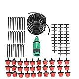 Zerodis kit d'arrosage, 4/7mm, tuyau d'arrosage Micro kit goutte d'arrosage Arroseur Système de refroidissement Brumisateur pour terrasse Jardin Pelouse Serre