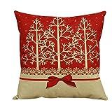 TWIFER Frohe Weihnachten Druck Färben Schlafsofa Home Decor Kissenbezüge Weihnachtsdeko (45x45cm) (G, 45 x 45cm)
