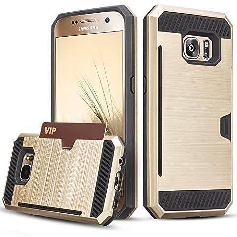 Coque Galaxy S7, [Fente pour carte] Hybrid PC dur TPU