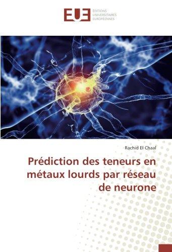 Prediction des teneurs en metaux lourds par reseau de neurone