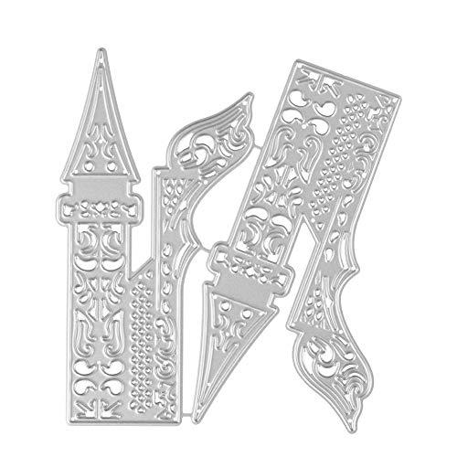 Qinpin Stanzschablonen aus Metall für DIY Scrapbooking Fotoalbum Papier Karte Geschenk Prägung...