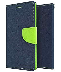 Uni Mobile Care Fancy Diary Card Wallet Flip Case Back Cover For Samsung Galaxy S6 - Blue