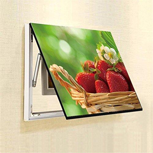 Gemälde Erdbeeren Bild Obst Muster Korb Zeichnung Block Verteilung Meter Kasten / Drücken Ziehen Wandbild / Elektrisch Meter Dekorativ / Rahmen Schatten Box , 50*40 cm ()