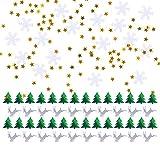Confetti da Tavolo Alberi di Natale, Renne, Fiocchi di Neve, Stelle, Tavolo Spruzzata Coriandoli per Decorazioni della Festa, Multicolore, Totale 45 g