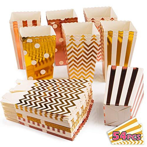 VIBIRIT 54 Stück Popcorn Boxes Geschenktüten Weihnachten, Popcorn Tüten Klein Candy Bar Zubehör Tüten Pappe für Snacks Candy Container Partytüten Behälter für Party Geburtstag Hochzeit Geschenk