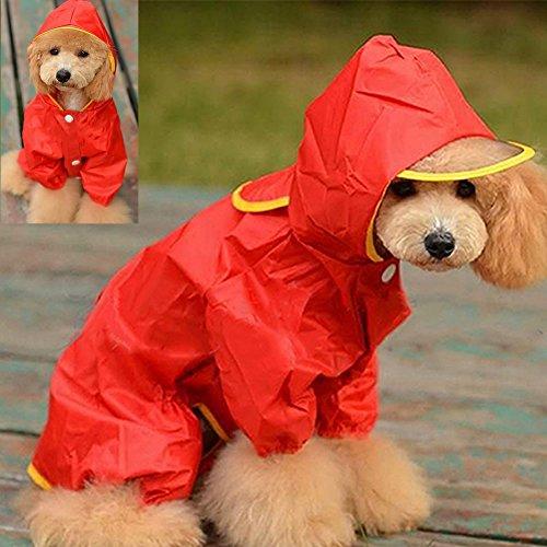 dairyshop Wasserdicht Pet Kapuzenpullover für Hunde Regenmantel mit Kapuze Hoodie Zupfbürste Staub Coat Kleidung Gap (Kostüm Ihre Machen Eigene Katze Kind Sie)