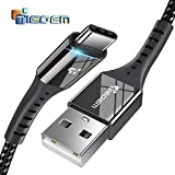 #3: Tiegem 2.5A Type C USB Cable for Type C Devices Fast Charging 480mbps Data Sync Nylon Braided Wire with Long & Strong Connector - 2 Meter (Type-c-TGM2-Black-2mtr)