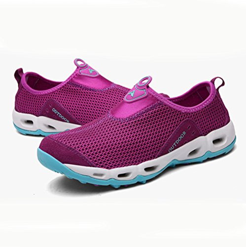 Chaussure de randonné mixte adulte homme femme mesh respirent basket mode outdoors sneakers cross-country Violet