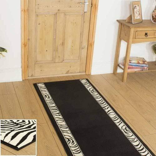 runrug® - Zebra - Teppichläufer für Flure - beliebige Größe - Umrandung oder gesamter Teppich mit Muster -