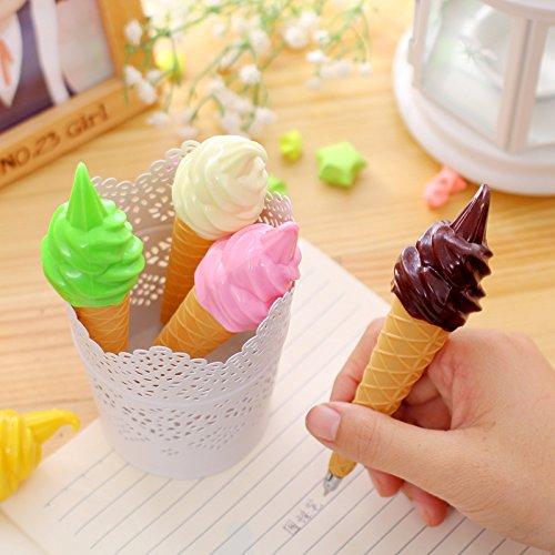 Ice Cream cute bolígrafo bolígrafo de Gel estudiante oficina papelería regalo Chic ~ color al azar
