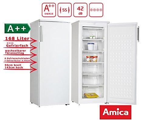 Amica GS 15470 W Gefrierschrank 6 Fächer 168 L 54 cm Breit Eisschrank