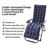 Fasteer Lounge Chair Kissen, Terrasse Chaiselongue Kissen Solid Color Matratze für Garten Outdoor Indoor Sonnenliege 60-Zoll (Marine)