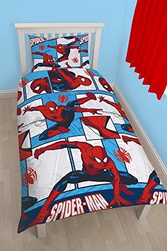 character-world-single-disney-spiderman-ultimate-parker-rotary-duvet-set-multi-colour
