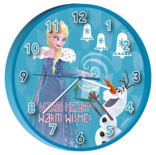 Disney wd19573 frozen – elsa e olaf heart, warm wishes '25 cm orologio da parete