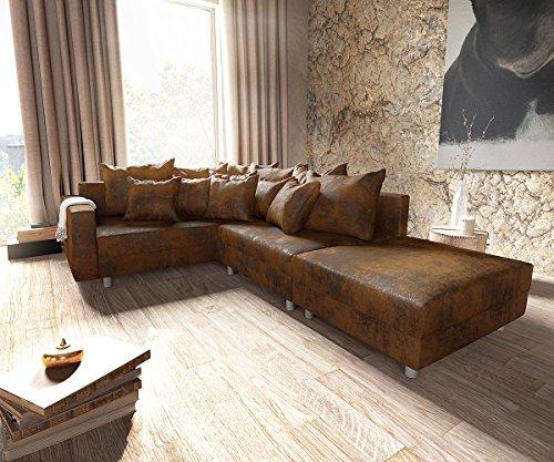 Couch Clovis modular - Ecksofa, Sofa, Wohnlandschaft & Modulsofa - Braun