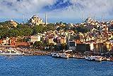 Istanbul Hafen Türkei XXL Wandbild Kunstdruck Foto Poster