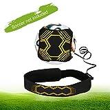 Linkax Solo Fußball Trainer Fußballtrainer Fußball-Kick-Trainer Solo Fußballtraining Aid Control Skills Verstellbarer Hüftgurt