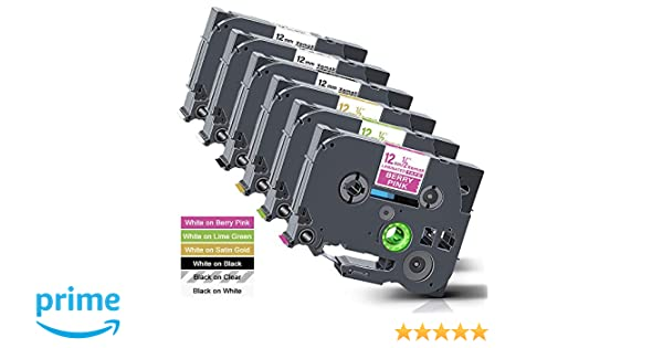 3 Pacco Xemax Compatibile Adesivo Forte Nastro 12mm x 8m Sostituzione per Brother P-Touch Tze-S631 Tz-S631 Nero su Giallo Cassette per PT-D600VP PT-E100 PT-P750W PT-H105 PT-H101C PT-2030VP PT-1000