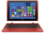 "HP Pavilion x2 10-n105nl Notebook, Display Touchscreen 10.1"", Processore Intel Atom Z8300, RAM 2 GB, eMMC da 32 GB, Intel Graphics HD, Windows 10, Rosso"
