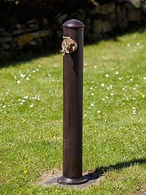 Garten Brunnen Antik-Stil Standbrunnen Braun Aluminium 92cm von aubaho auf Du und dein Garten